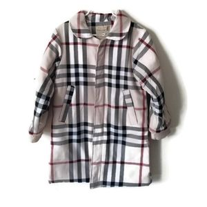 Burberry Coat girls sz 5 NWT